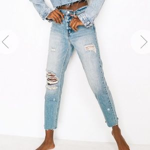 BDG High Rise Slim Straight Distressed
